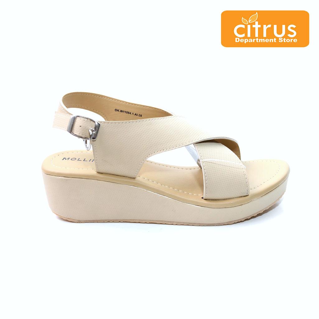 koleksi foto dan model serta gambar mollinic ok w sandal wedges wanita cream terkait Mollinic OK W Sandal Wedges Wanita Cream