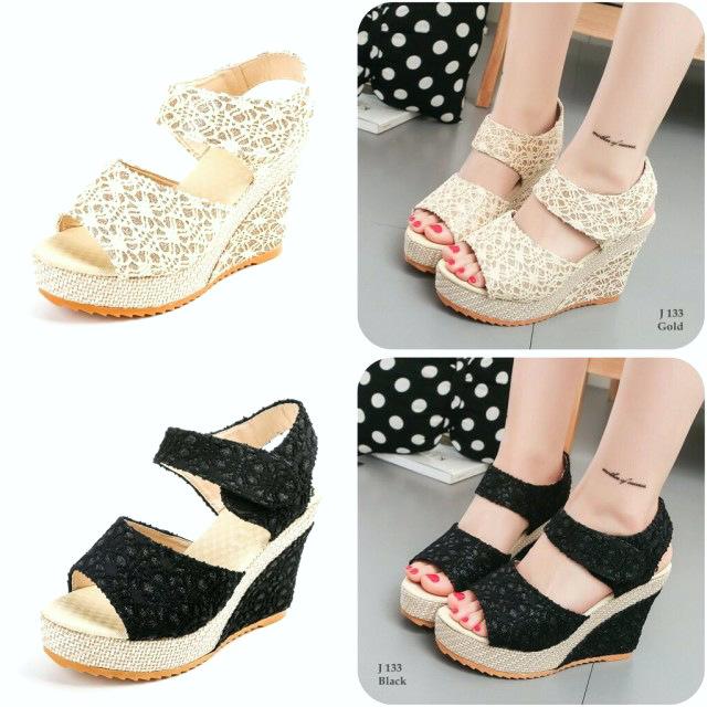 koleksi foto dan model serta gambar sandal wedges fashion 133 semi premium kode sfa602 dari Sandal Wedges Fashion 133 Semi Premium Kode SFA602