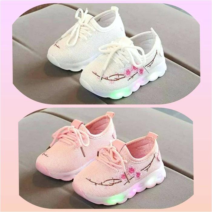 koleksi foto dan model serta gambar Sepatu Anak Anak Perempuan Sneakers 2019 Baru Musim Gugur Ana HF961 Sz 26 30 Sepatu Led Anak Import i tentang Sepatu Anak Perempuan