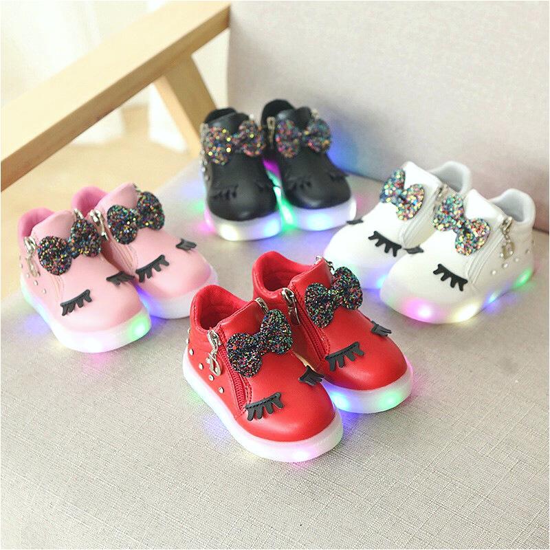 koleksi foto dan model serta gambar Sepatu Anak Perempuan Sneaker DWink Lampu LED Size 21 30 Usia 1 4 Tahun i untuk Sepatu Anak Perempuan