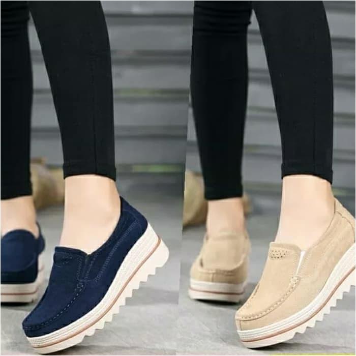 M248E Sepatu Wedges Wanita Santai Main Jalan Kuliah Hangout Cewek WY517 Dl038 Wedges Sepatu Wanita i tentang sepatu wedges wanita