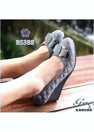sepatu wedges wanita pita emely biru coklat hitam abu bs dari sepatu wedges wanita