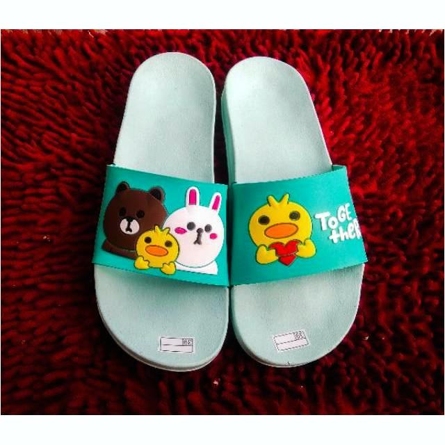 koleksi foto dan model serta gambar BISA COD Sandal Selop wanita karet jelly Timbul To her i berhubungan dengan sandal selop wanita