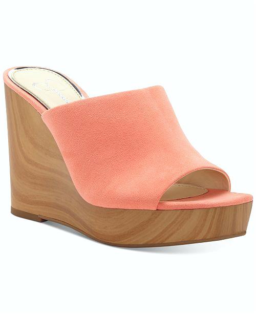 koleksi foto dan model serta gambar jessica simpson shantelle slide wedge sandals ID= berhubungan dengan Sandal Wedges