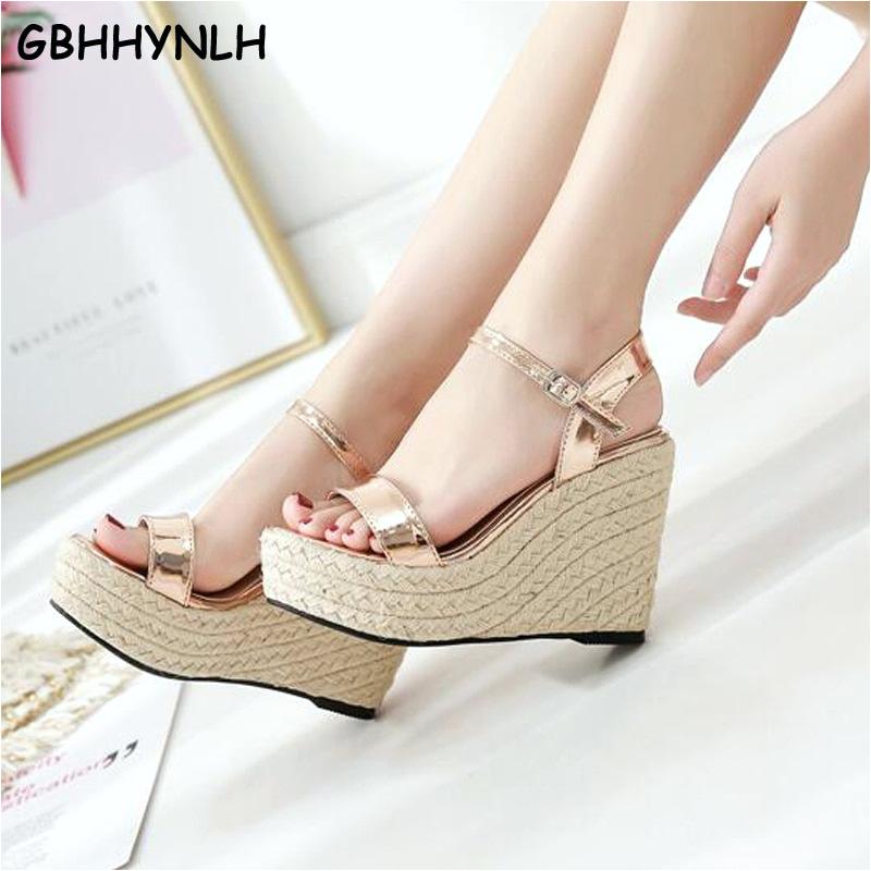koleksi foto dan model serta gambar Gbhhynlh Platform Sandal Wedges Sepatu untuk Wanita Sandal Wedges Pompa Sandal Wanita Berlian Imitasi Wanita Wedge berhubungan dengan Sandal Wedges
