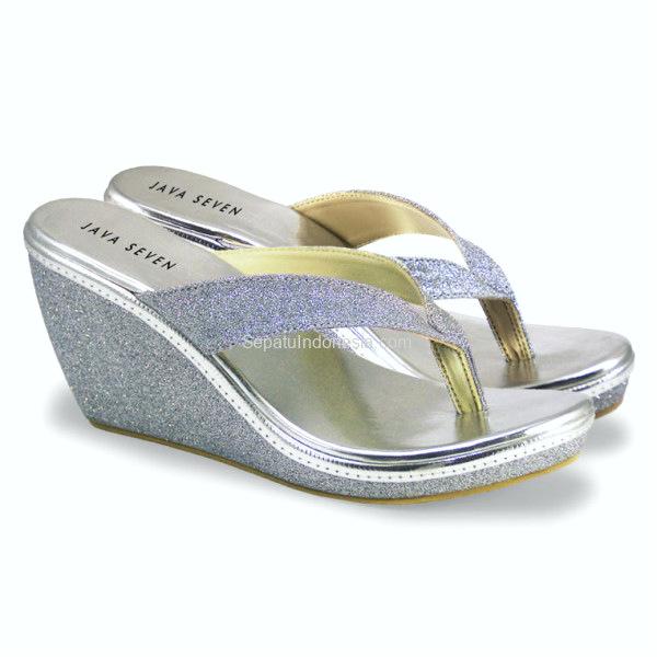 koleksi foto dan model serta gambar sandal wedges wanita MLY 002 terkait sandal wedge hell MLY 002