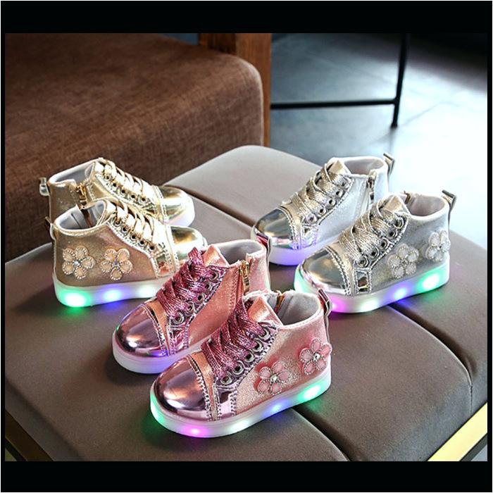 koleksi foto dan model serta gambar B terkait Sepatu Anak Lampu Led Anak Perempuan Blink Flower Petals Zh ss081