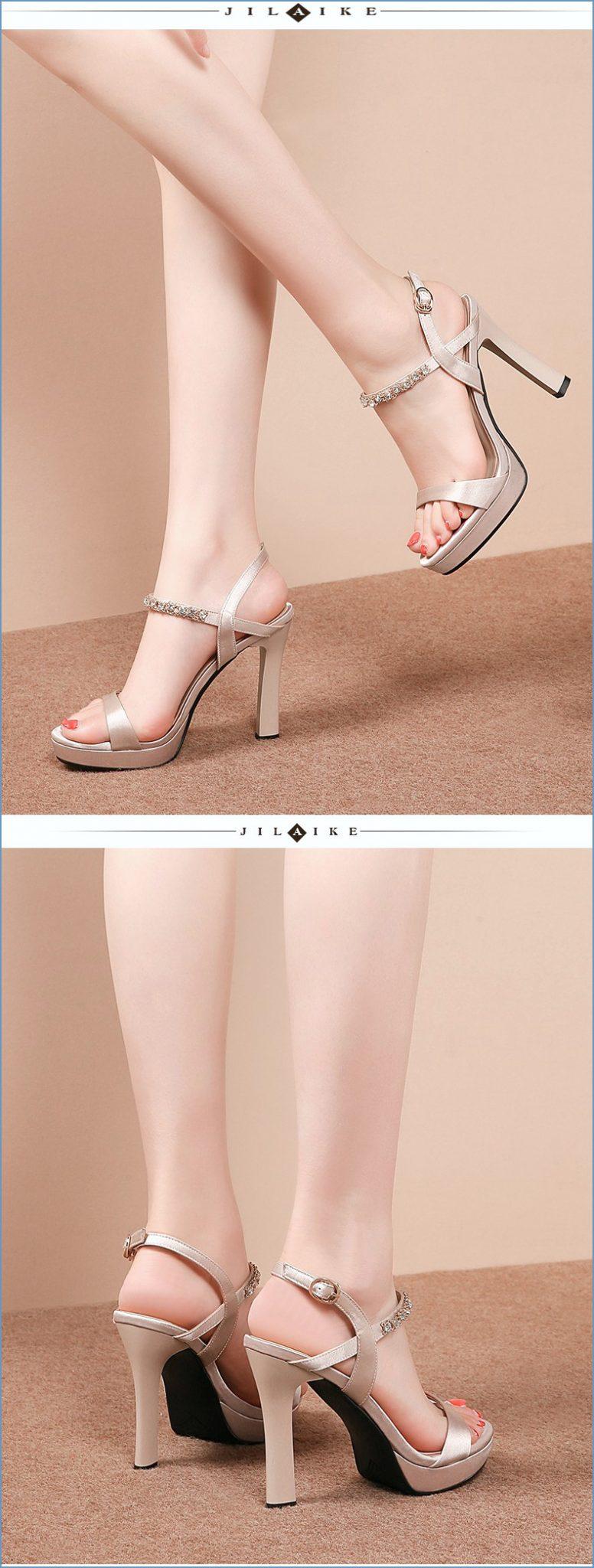 Sepatu High Heels Model Cheongsam Dengan Gesper Untuk Wanita 2020 i dari Sepatu High Heels Wanita