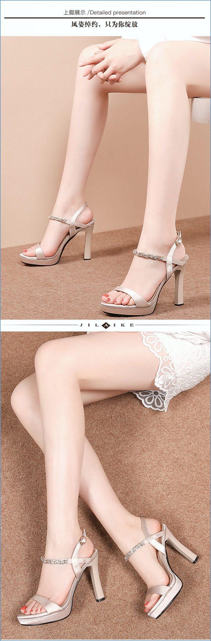 Sepatu High Heels Model Cheongsam Dengan Gesper Untuk Wanita 2020 i terkait Sepatu High Heels Wanita