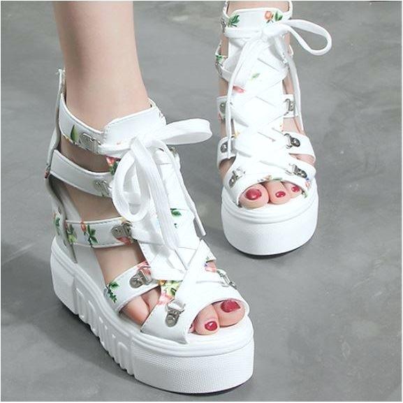 shwc50 white sepatu wedges wanita cantik elegan mengenai Jual SHWC50 white Sepatu Wedges Wanita Cantik Elegan