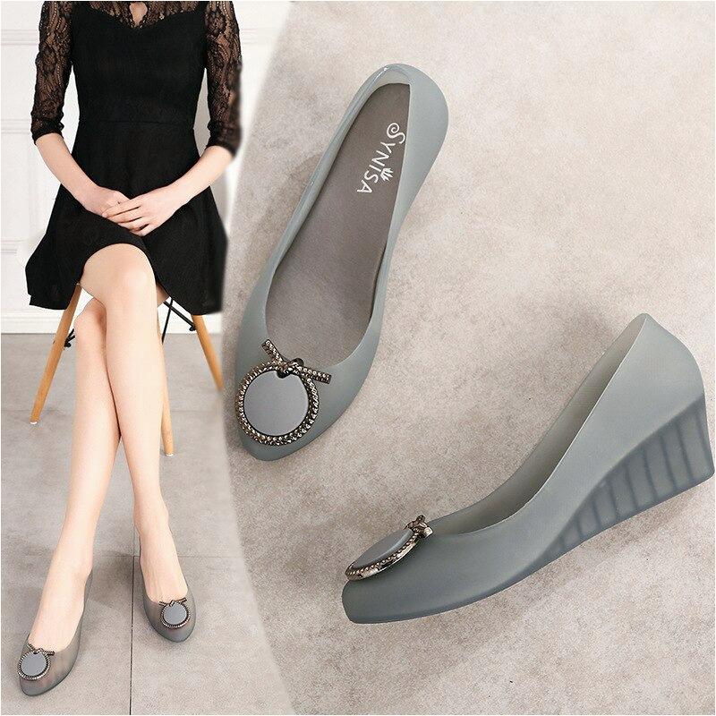 Wanita Summer Sepatu Wanita Jelly Sandal Sepatu Wanita Casual SLIP ON Wedges Sandal Wanita Sepatu untuk Wanita Summer Sepatu Wanita Jelly Sandal Sepatu Wanita Casual SLIP ON Wedges Sandal Wanita Sepatu