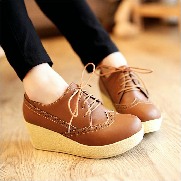 sepatu platform wedges wanita sdw75 sepatu coklat sepatu wedges untuk Jual Sepatu Platform Wedges Wanita SDW75 sepatu coklat sepatu wedges Jakarta Pusat Luvenia Shoe