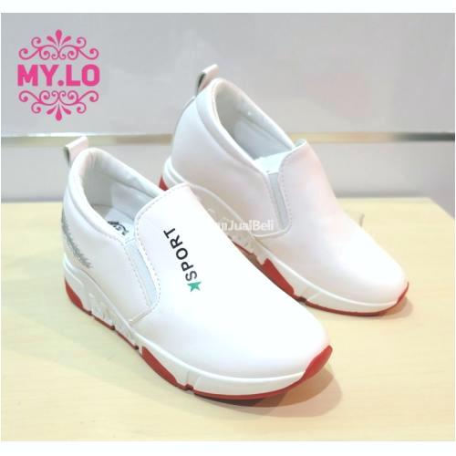 sepatu wedges wanita casual size 36 40 warna putih kualitas import dan tinggi jakarta barat berhubungan dengan sepatu wedges wanita