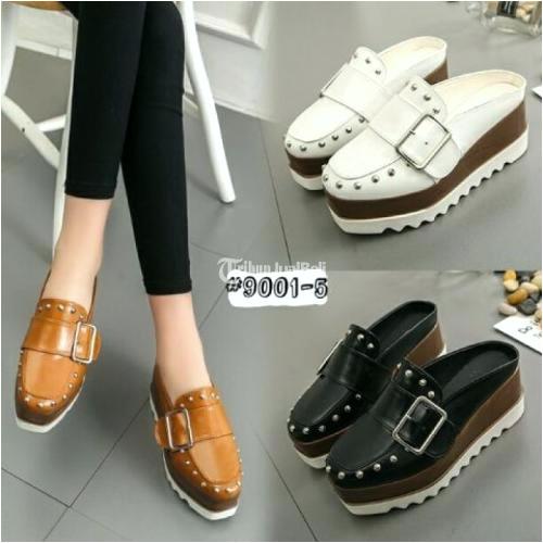 sepatu wedges wanita fashion korea szd9001 5 bahan kulit harga murah jakarta mengenai sepatu wedges wanita