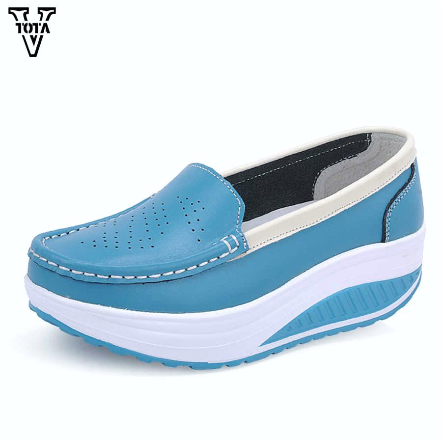 Vtota Fashion Kasual Wanita Sepatu Wedges Wanita Sepatu Lembut Sepatu Sepatu Merek Wanita Sepatu Bernapas Sepatu q50 berhubungan dengan Vtota Fashion Kasual Wanita Sepatu Wedges Wanita Sepatu Lembut Sepatu Sepatu Merek Wanita Sepatu Bernapas Sepatu X728