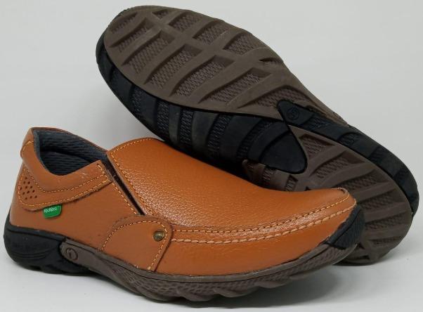 Sepatu Slop Slip on Pria Kickers - Sepatu Casual Pria - Sepatu Kerja Pria Kulit Asli