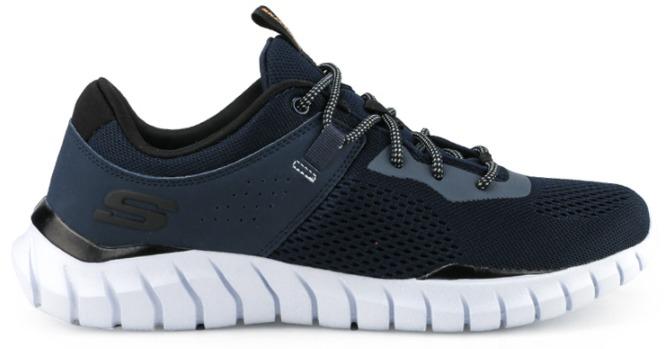 Sepatu sneakers pria Skechers overhaul