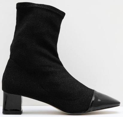Mezalina Julian Knit Boots Black