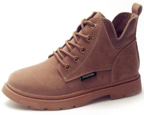 sepatu wanita import Brown Korea Martin Boots Import