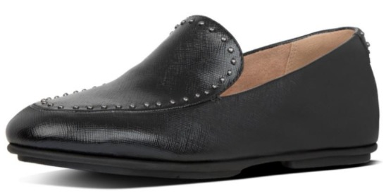 Fitflop Y50-090 Lena Microstud Loafers Women Shoes - All Black AW19