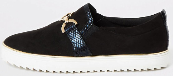 River Island Snaffle Front Slip On