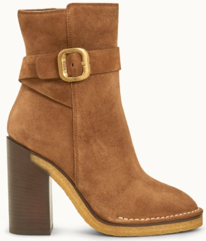 Tod's ANKLE BOOTS IN SUEDE - BROWN