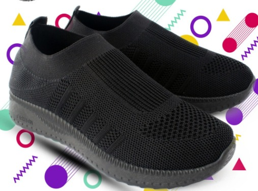 sepatu casual wanita VIVO SHOES SP10482 Black