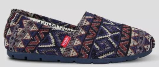 Wakai Women SW11809 Core Prism Blue sepatu SLIP ON