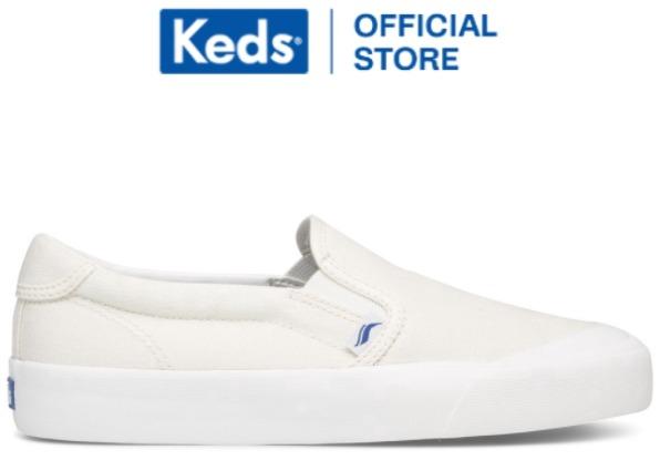 Keds Sepatu Wanita Crew Kick 75 Slip On Canvas White WF62485