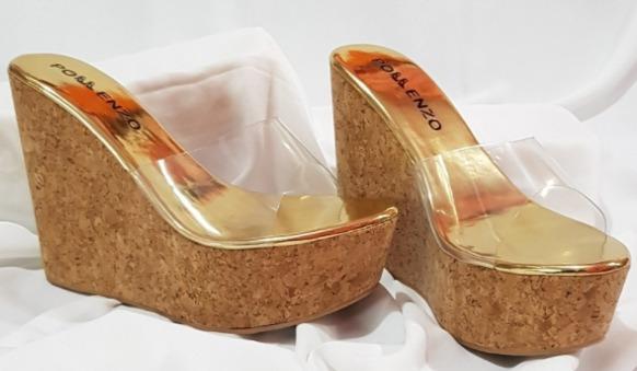 foto gambar model Sandal Wedges Bening Pollenzo Sallie