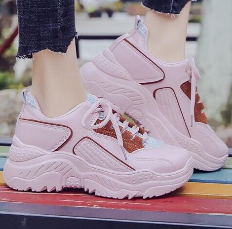Foto gambar model Sneakers Sepatu Wedges Wanita Korea Import