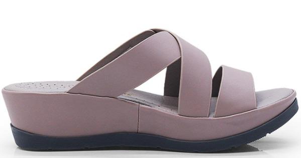 gambar foto model Wedges BATA Sandal Wanita CONTANZA PINK - 7915139