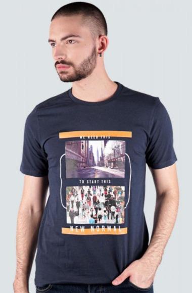 T-Shirt pria 180 Degrees KAOS ANTI VIRUS, DIGITAL PRINT, SOCIAL DISTANCING, START NEW NORMAL Kaos Pria model terbaru