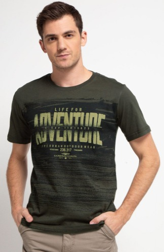 Kaos oblong pria Cardinal LIFE FOR ADVENTURE Casual T-Shirt model terbaru