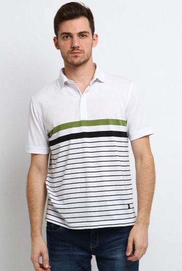 Harga kaos merk Arnett Baju Pria Polo Shirt Lengan Pendek White Original ZALORA Indonesia ®