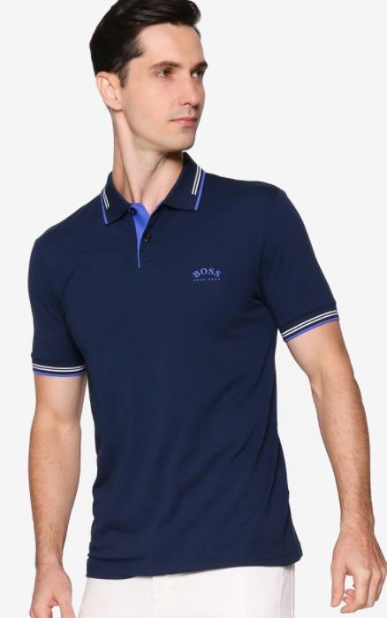 harga kaos polo shirt pria merk BOSS Paul Slim Polo Shirt original koleksi foto gambar model terbaru