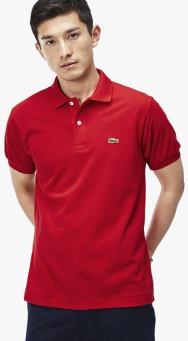 harga kaos polo shirt pria merk Lacoste Classic Fit L.12.12 original koleksi foto gambar model terbaru