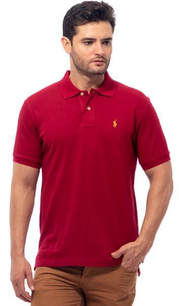 harga merk POLO RALPH LAUREN - POLO SHIRT CLASSIC FIT S/S JEWEL RED MEN - X02A02E02HT kaos polo pria model terbaru