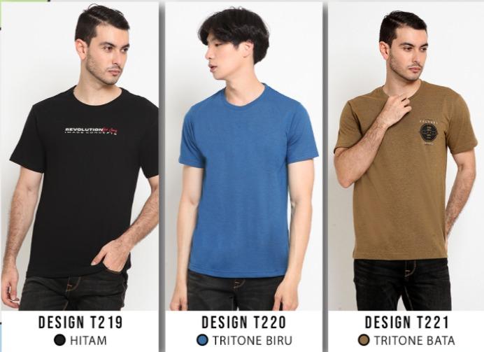 rekomendasi merk baju kaos polos pria yang bagus dan murah