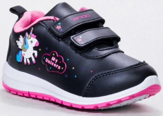 Sepatu Anak Perempuan Merk Ando Minicorn Velcro
