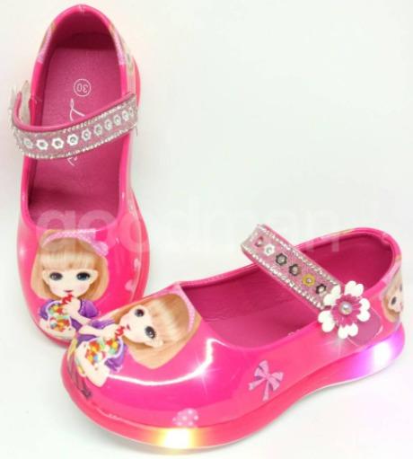 foto gambar Sepatu Lampu LED Bayi Lucu Azalia Dans Sepatu Formal Anak Perempuan model terbaru
