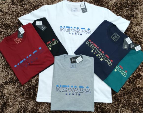 kaos t shirt pria merk nevada style model terbaru mix and match