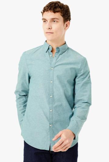 Kemeja pria import branded terkenal merk MARKS & SPENCER Slim Fit Oxford Shirt With Stretch