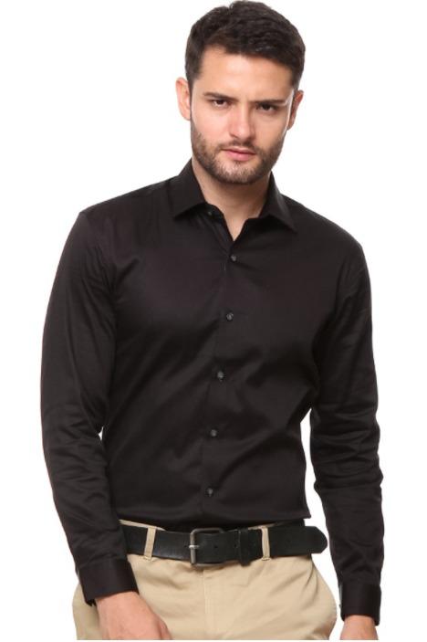 Kemeja pria merk The Executive Mix Polyester Long Sleeves Shirt