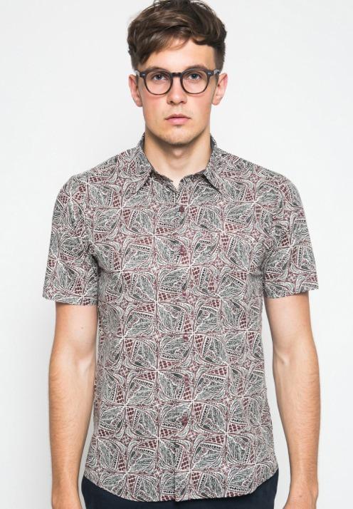 Kemeja pria merk YEGE Short Sleeve Print Shirt 7074