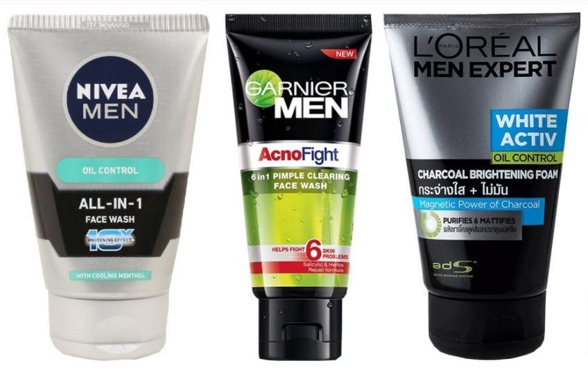 sabun cuci muka - pembersih wajah pria terbaik