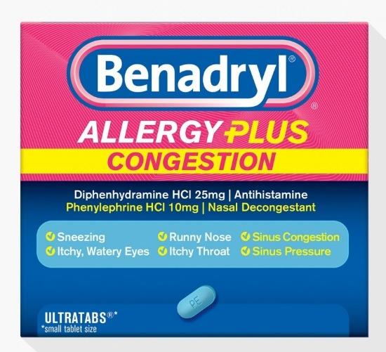 Benadryl allergy plus congestion