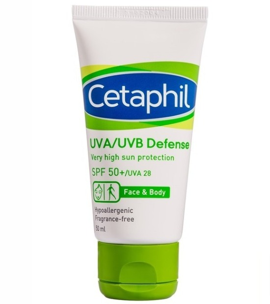 harga Cetaphil UVA/UVB Defense SPF 50 review pemakaian