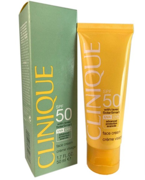 harga Clinique Broad Spectrum SPF 50 Sunscreen Face Cream review pemakaian
