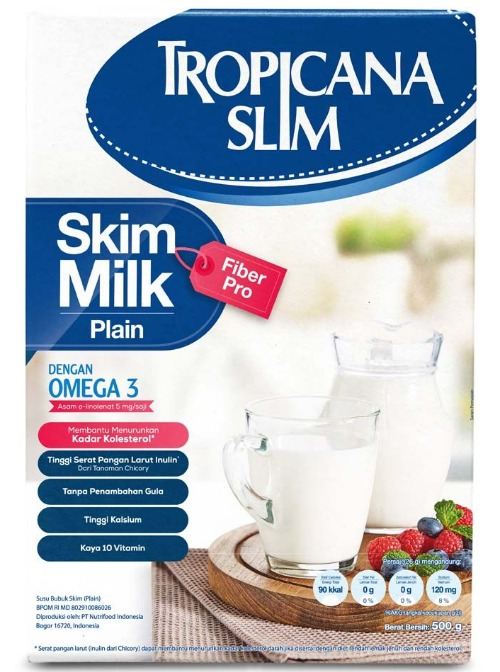 Tropicana Slim Milk Skim Fiber Pro Plain